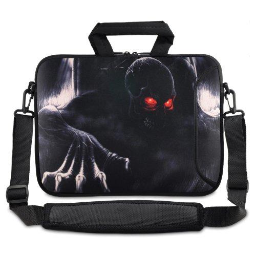 'Colorfulcase Skull 40,6cm 43,2cm 43,9cm 44,7cm pollici laptop custodia tracolla Carrying Sleeve per Apple MacBook Pro 17/Dell/Acer V3/Lenovo/Samsung/Asus pollici laptop