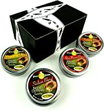 Dean Jacob's Bread Dipping Seasoning Blends 4-Flavor Variety: One 1.75 oz Tin Each in a Gift Box