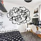Tianpengyuanshuai Sticker Mural Art Personnalisé Décoration de La Maison Sticker Mural pour Chambre d'enfants Décoration Chambre Modèle Amovible 42X32 cm