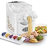 3 In 1 Electric Pasta Maker Machine, Automatic Pasta Machine for 3-5 People, Household Noodle Maker for Making Spaghetti, Fettuccine, Penne, White