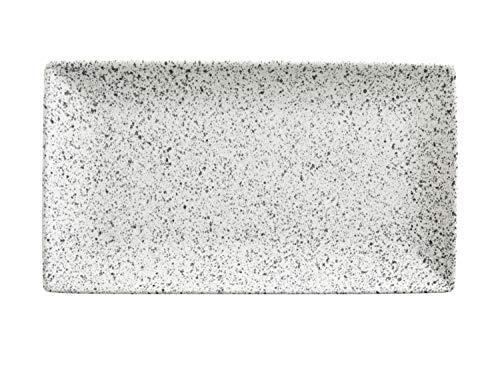 Maxwell & Williams Caviar Speckle Plat de service rectangulaire en porcelaine Crème 34,5 x 19,5 cm