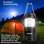 GEMEK 2 Pack LED Camping Lantern, Survival Kit for Hurricane, Emergency, Storm, Outages, Outdoor Portable Lantern, 6 AA…
