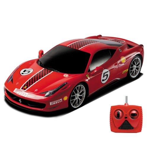 Ferrari 458Challange Rally Edition–Original licenza ufficiale, Maggiolino elettrico RC auto/Car/veicolo in Roter edizione speciale. Telecomando Incluso. montato (Ready To Drive). Scala 1: 18.