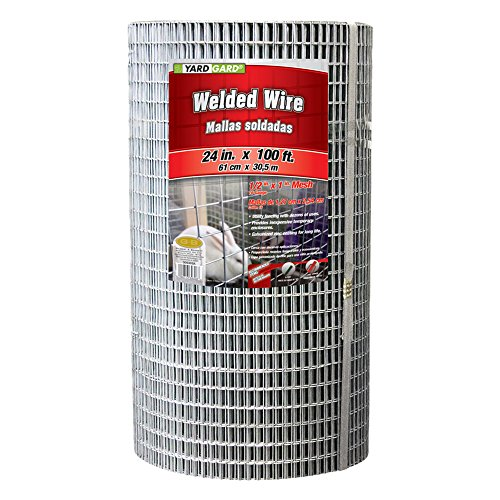YARDGARD 309303A 24 inch by 100 Foot 16 Gauge 1/2 inch and 1 inch mesh Galvanized Welded Wire
