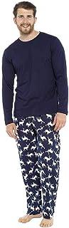 Mens Reindeer Print 100% Cotton Loungewear Nightwear Pyjamas