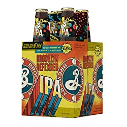 Brooklyn Brewery Defender IPA Craft Beer, 330 ml (Pack of 4)
