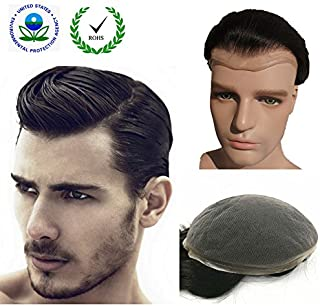 "Human Hair Toupee for Men, N.L.W. European Human Hair Pieces for Men with 10"" x.."