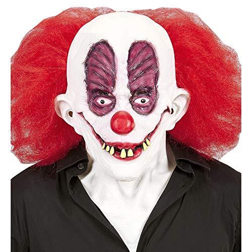 Widmann vd-wdm05406Maske Goofy Clown mit Haar und Hals, Einheitsgröße