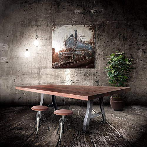 Rustic Deco Vintage Industrial Ductile Cast Iron Table Legs - Base - Set of 2