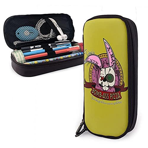 The Walkie Dead - Estuche de piel para lápices de gran capacidad, organizador de escritorio con cremallera para la escuela y suministros de oficina, estilo 3