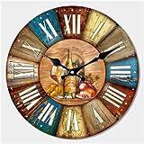 Reloj de Pared con diseño Moderno y silencioso para salón, decoración de Pared, decoración de casa, Reloj de Pared, 12647, Diameter 14inch