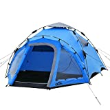 Qeedo Quick Oak 3 Tenda da Campeggio 3 posti Automatica (Quick Up System) - Blu