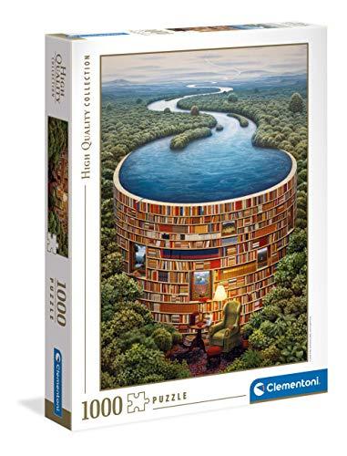 Clementoni Collection-Bibliodame-Puzzle für Erwachsene, 1000 Teile, Made in Italy, Mehrfarbig, 39603