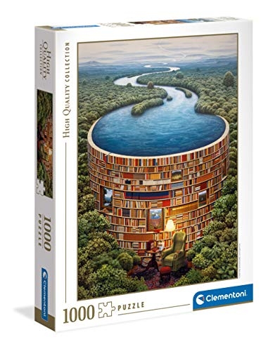 Clementoni Collection-Bibliodame-puzzle adulti 1000 pezzi, Made in Italy, Multicolore, 39603