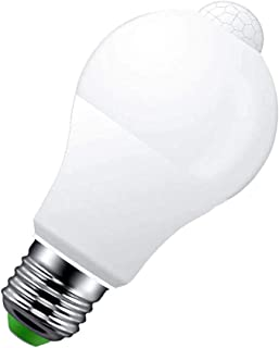 LEDLUX Bombilla LED E27 con sensor de movimiento por infrarrojos, 9 W, 720 lúmenes, forma de bulbo A60, blanco frío 6500 K