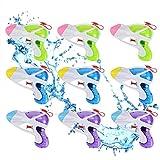 Queta 9 Stück Wasserpistole Spritzpistolen Set Water Gun Kinder Klein Wassergewehr für Kinder Party Strand Pool, Zufällige Farbe
