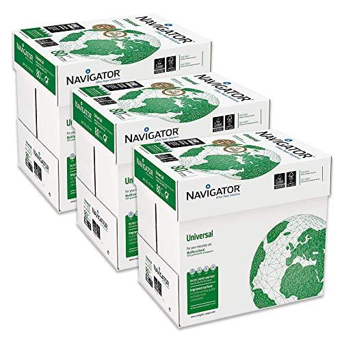 Navigator Universal Carta Premium per ufficio, Formato A4, 80 gr, Confezione da 15 risme da 500 Fogli