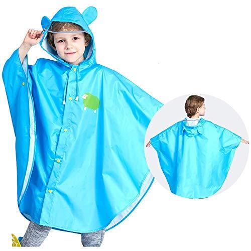 Girls Summer Clothes, 2-12 Years Kids Rain Wear 3D Cartoon Children Toddler Raincoat Jacket Ponchos for Boy Girl