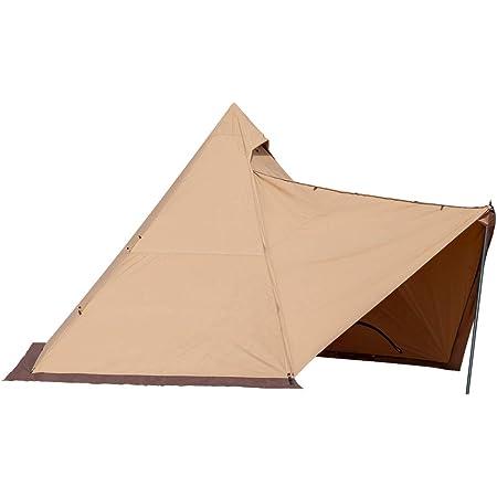 TOMOUNT ワンポールテント ポリコットン コットンテント キャンプテント 多機能 四季適用 3-5人 簡単設営 撥水 通気 遮光 焚火 キャンプ用 1本ポール付き