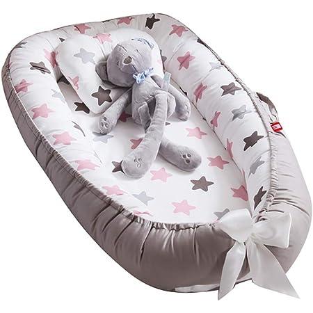 r/éducteur Lit B/éb/é ours polaire bleu TEALP Reducteur de lit Bebe Cocon Nid pour nouveau-n/é nourrisson baby nest pour b/éb/é couffin de voyage portable