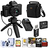 Panasonic Lumix DC-G100 Mirrorless Camera Black with 12-32mm Lens & Tripod/Grip Bundle with 32GB SD Card, Bag, Extra Battery, Charger, UV Filter, Corel PC Software and Accessories