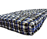 AnuAshi Box Soft Cotton Filled Multicolor Cheque Style Mattress   Gadda for Good Sleeping Experience (Box 6x3)