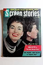 Screen Stories Magazine November 1957, HELEN MORGAN STORY, with Ann Blyth on Cover Articles: STOPOVER TOKYO, Robert Wagner; JAILHOUSE ROCK, Elvis Presley; WILD is the WIND, Anna Magnani, Anthony Quinn