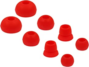 Replacement Ear Tips for Powerbeats 3 Headphone, Rayker Soft Silicone Earbud Tips, S/M/L Double Flange Size Included, PB3, 4 Pairs, Red