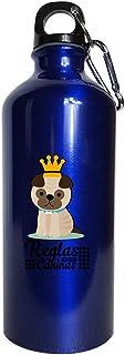 Reglas Caninas - キュートで面白いスペイン犬愛好家 - 水筒メタリックブルー