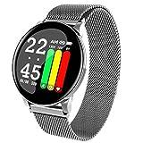 APCHY Smart Watch,1.3 Monitores De Actividad De Pantalla Redonda Pedómetro De Ejercicio De Adultos,Ritmo Cardíaco Y Presión Arterial Monitoreo De Salud Pulsera Inteligente con Monitor,B