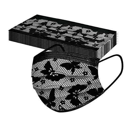 10 Stück Einmal-Mundschutz, Einweg Erwachsene Mundschutz, 3 Lagig Atmungsaktiv Mund und Nasenschutz Motiv Stoff Bandana Print Maske Mund-Nasen Bedeckung Multifunktionstuch Halstuch Schals (10PC, G)