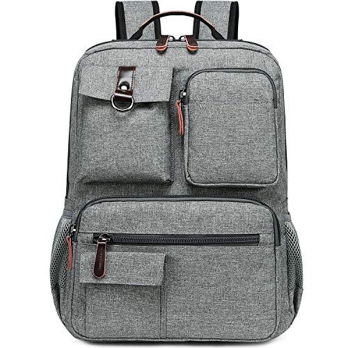 Purchase School Backpack Vintage Laptop Backpacks Men Women Rucksack Bookbags (Grey-1)