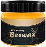Wood Seasoning Beeswax Beeswax Polish for Wood & Furniture Natural Unscented Beeswax Furniture Wood...