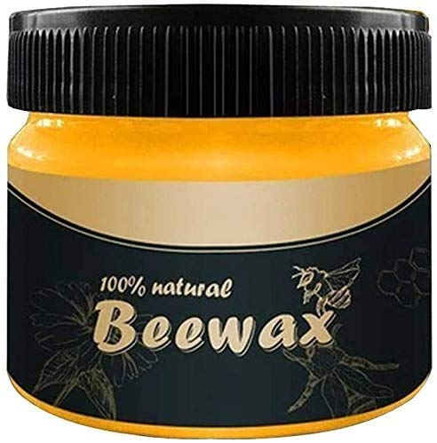 Wood Seasoning Beewax, Beeswax Wood Furniture Cleaner and Polish for Wood Doors, Tables, Chairs, Cabinets