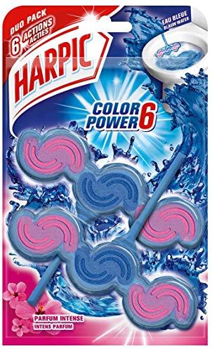Harpic Bloc WC Eau Bleue Parfum Intense, 2 galets