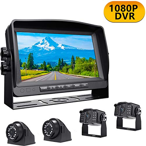 """Xroose Digital Backup Camera + Large 9"""" Recorder Monitor Kit for RV Trailer, FHD Rear Front Side View Reverse Cam and 1080P Screen for Backing Vehicle, Reversing Camper Truck Motorhome 5th Wheel, YX4 backup Cameras Vehicle"""
