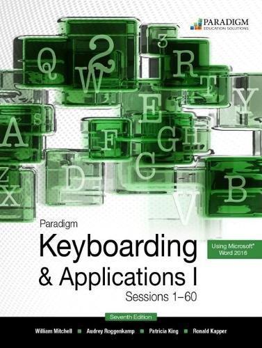 Mitchell, W: Paradigm Keyboarding I: Sessions 1-60