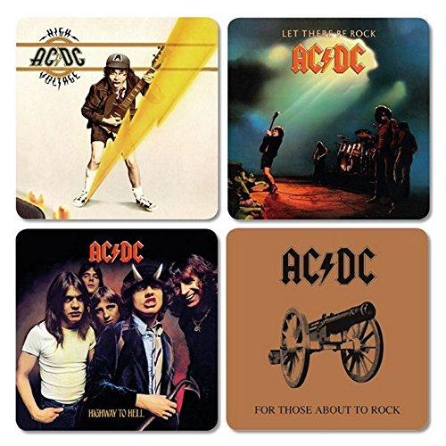 AC/DC - Untersetzer Coaster 4er Set - Cover Mix