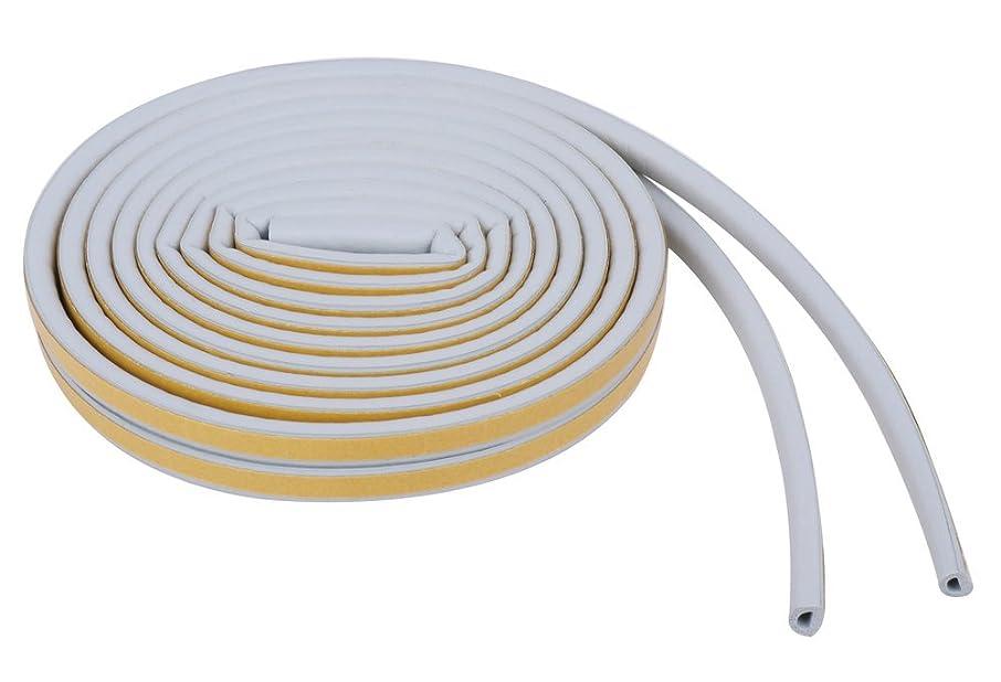 抜本的なうがい回転させるすき間 テープ 気密 パッキン 窓 ドア 隙間 ふさぎ 戸当たり 防音 防風 防虫 D型 灰色 遮音 玄関用
