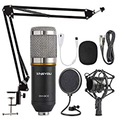 Professional Recording Studio Equipment: Equipped with Zingyou BM-800 microphone, Shock mount, Pop filter, Mic adjustable suspension scissor arm stand, Anti-wind foam Cap, Power cable, Sound card Sensitive Capture: The Zingyou BM-800 features thin ma...
