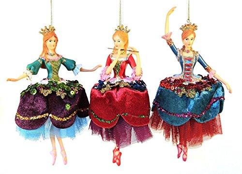 Gisela Graham Ballerina-Dekoration zum Aufhängen, 3 Stück