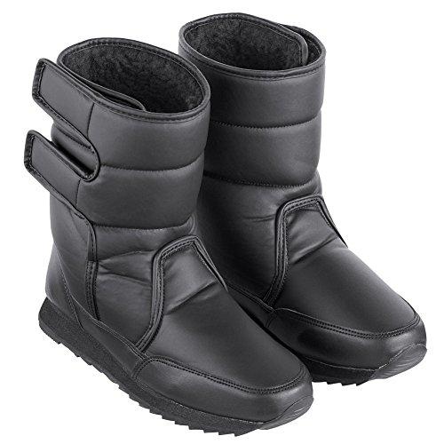Collections Etc Women's Fleece-Lined Slip-Resistant Winter Boot Black 7