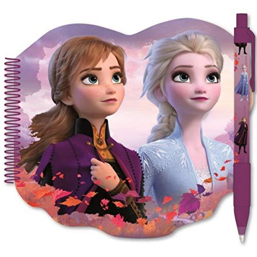 Javoli Notizbuch mit Kugelschreiber, kompatibel zu Disney Frozen 2 Die Eiskönigin | Geschenk für Mädchen | Anna und ELSA | My Destinys Calling | Schreibblock | Schulheft