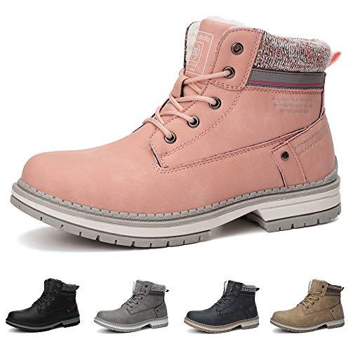 ABTOP Botas Mujer Botines Zapatos Invierno Botas de Nieve Cálido Fur Forro Aire Libre Boots Urbano Fiesta Oficina Caminando Senderismo 40