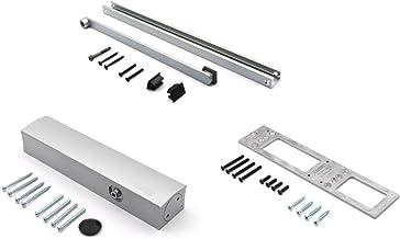 GEZE deursluiter TS5000 TS 5000, zilver, compleet pakket incl. montageplaat en glijrail