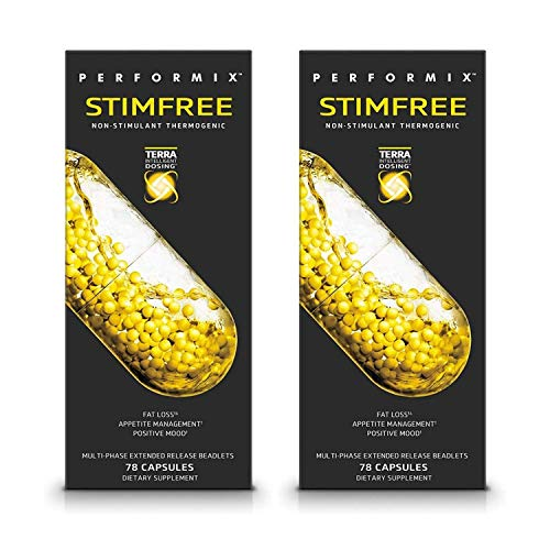 Performix STIMFREE Non-Stimulant Thermogenic - 2-Pack x 78 Capsules - Appetite Management, Healthy Metabolism Support and Mood Booster - Green Tea, Zychrome, and Capsicum Fruit Extract