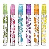 Frcolor 6 Pcs 10ml Recharge Cosmétique Parfum Atomiseur Bouteille de Parfum Vide pour Voyager (Vert Rose Violet Bleu Orange Jaune Jaune)