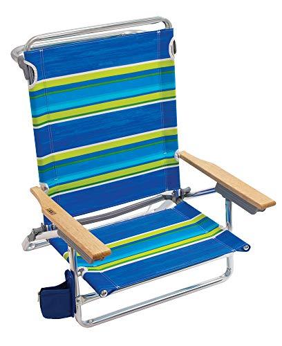 Rio Beach Classic 5 Position Lay Flat Folding Beach Chair - Tropical Fusion Wide Stripe
