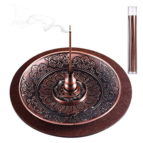 3 Pieces Incense Holder Lotus Plant Home Fragrance Accessories Cone Incense Burner Holder for Home...