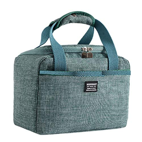 5.5L Food Thermal Bag, URIBAKY Solid Color Food Bolsa De Almuerzo PortáTil Para NiñOs Adultos Bolsa Nevera Oficina Viaje Escolar